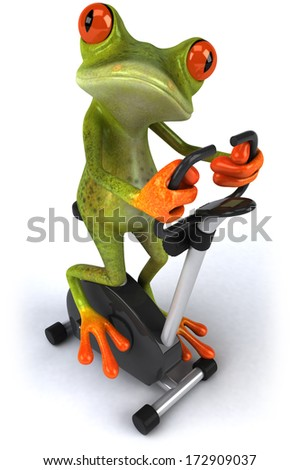 Frog working out