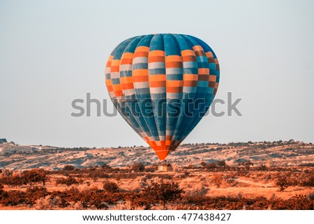 From Cappadocia Baloon Flying Vintage