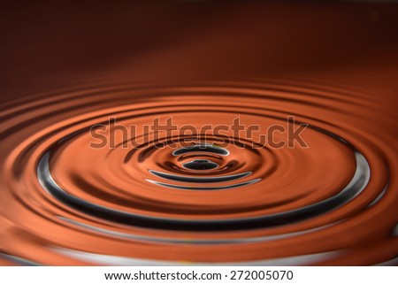 from drop in the water circles on liquids - stock photo