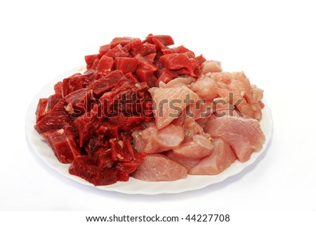 From forcemeat which it is made of several grades of meat tasty cutlets turn out - stock photo