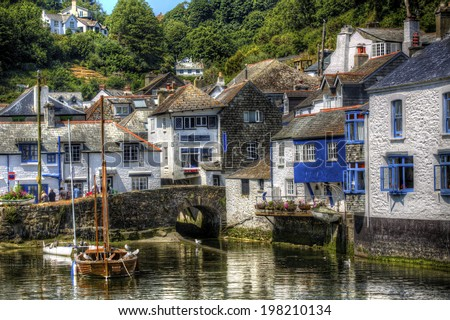 From the Fishing Port of Polperro, Cornwall - stock photo