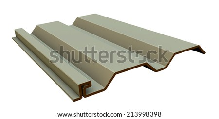 front brown vinyl siding - stock photo