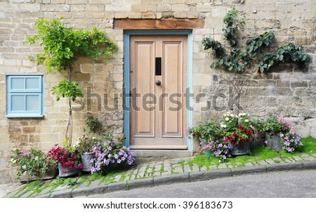 Front Door and Exterior of a Beautiful Old English Cottage