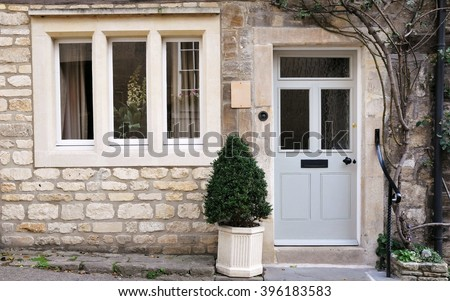 Front Door Exterior Beautiful Old English Stock Photo Image