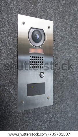 Intercom stock images royalty free images vectors for Front door video intercom