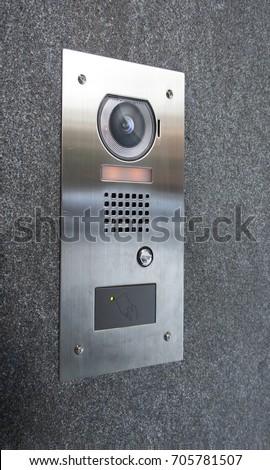 Intercom stock images royalty free images vectors for Front door video intercom