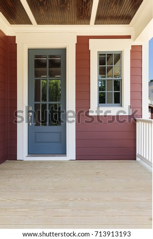 Front door, inviting with large porch