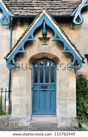 Front Door Of A Victorian Era English Cottage