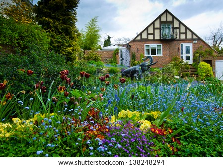 Front Garden - stock photo
