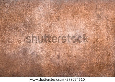 Front horizontal view of an iron rusty panel.