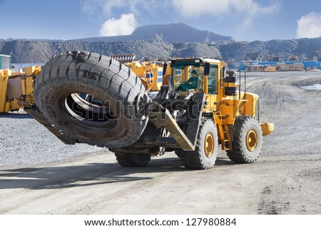 front loader - stock photo