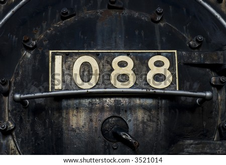 front of a old steam train - stock photo