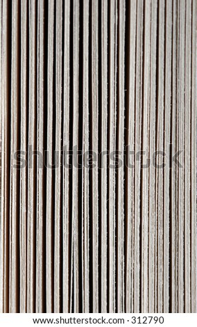 Front of bookpages extreme close-up - stock photo