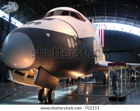 Front of space shuttle.