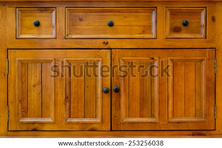 Front Of Wooden Cabinet