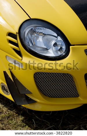 Front part of  sports car - stock photo