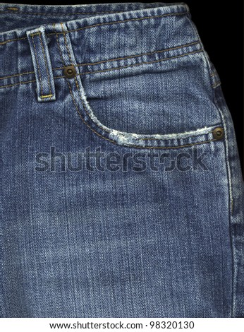 Front Pocket of Jeans - stock photo