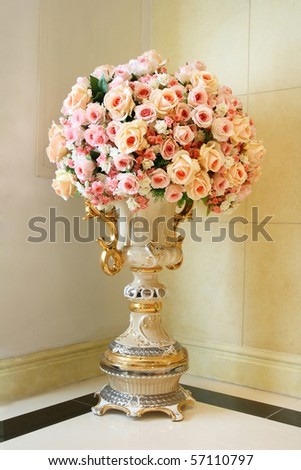 Front shot of classic vase - stock photo