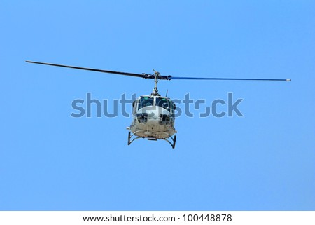 Front view of a Army helicopter - stock photo