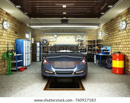 inside home garage stock images royalty free images vectors shutterstock. Black Bedroom Furniture Sets. Home Design Ideas