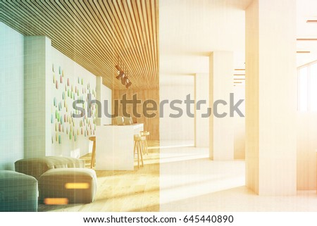 Front View Open Office Interior Bar Stock Illustration 645440890 ...
