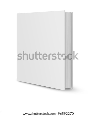 front view of Blank book cover white . - stock photo