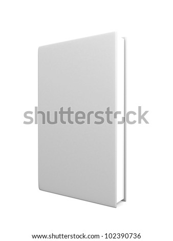 front view of Blank book cover white - 3d render