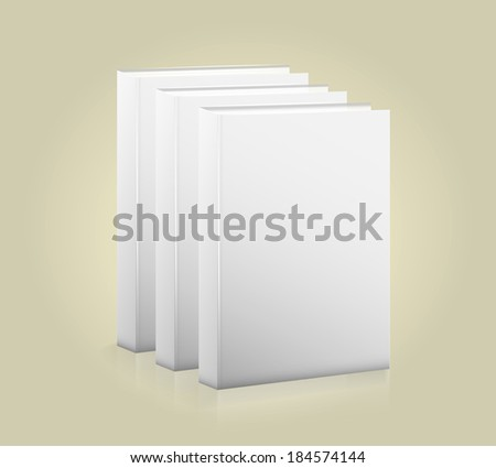 Front view of blank book. Raster version - stock photo