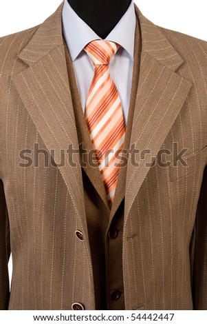 front view of elegant suit, business fashion - stock photo