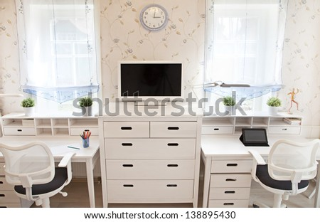 Front view of interior of kid's room   - stock photo