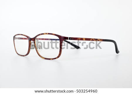 front view of reading glasses with tortoiseshell frames on white background