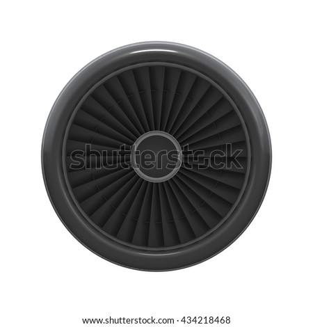 Front view of turbine isolated 3d rendering - stock photo
