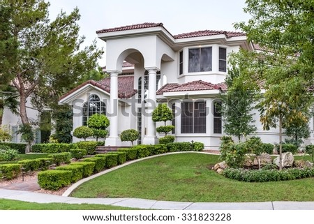 Front Yard Of Upscale Suburban House