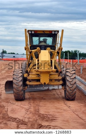 Frontal view of a grader - stock photo