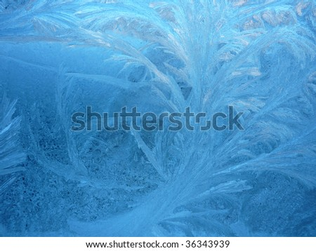 frost background - stock photo