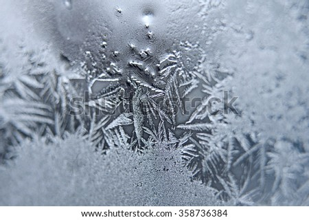 Frost on the glass