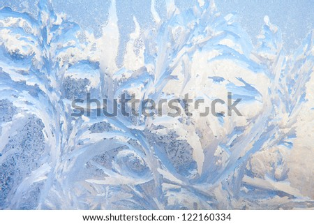 frost on the window - background - stock photo