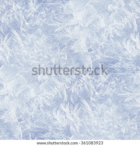 frost pattern - winter seamless background