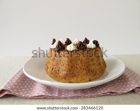 Frosted bundt cake - stock photo