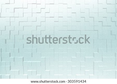 Frosted glass texture background effect 3d block style