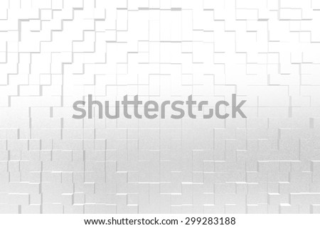 Frosted glass texture background white color, 3d block style