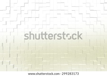 Frosted glass texture background yellow color, 3d block style
