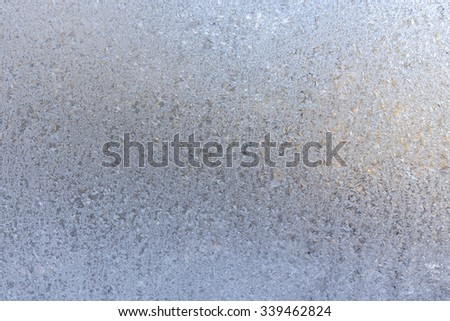 Frosted glass texture. Winter background. - stock photo