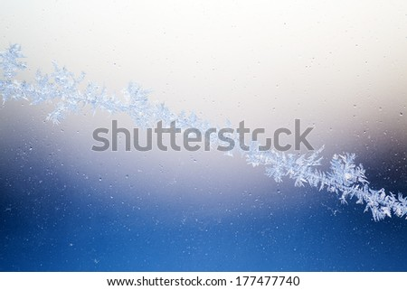 Frosty abstract background with space for copy. - stock photo