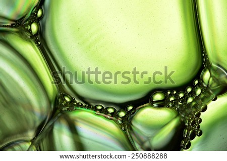 froth on the green background and place for text - stock photo