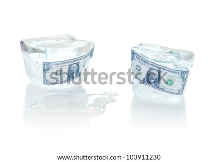 Frozen assets - stock photo