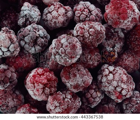 frozen berries isolated on a background.