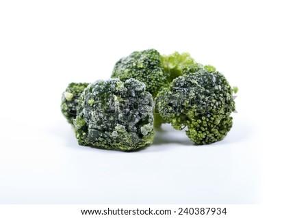 Frozen brokoly - stock photo