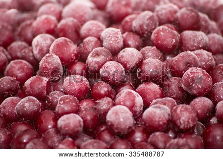 frozen cherries, berries