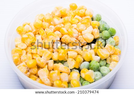 frozen corn and nut - stock photo
